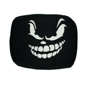 Cosplay Face Mask Mouth Mask Black Ghost Glows